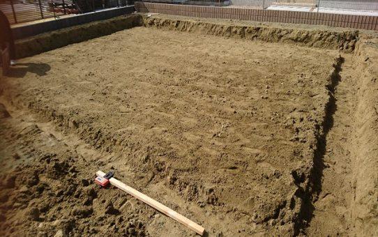 石巻市O様邸新築工事の様子です
